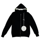 Headphone Zip Hoodie (Black)