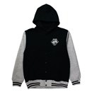 Emblem Stadium Sweat Hoodie (Black x Gray)
