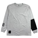 AREA 88 L/S T-SHIRTS (GRAY/BLACK)