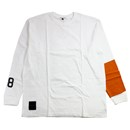88 L/S T-SHIRTS (WHITE/ORANGE)