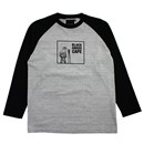 BA CAFE L/S RAGLAN (GRAY/BLACK)