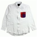 CHECK POCKET L/S SHIRTS (WHITE)