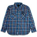LOGO FLANNEL SHIRTS (BLUE)