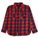 LOGO FLANNEL SHIRTS (RED)