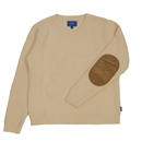 ELBOW PATCH KNIT SWEATER (WHITE)