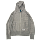 LINE SWEAT ZIP UP HOODIE (GRAY)