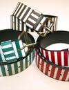STRIPE LEATHER BELT