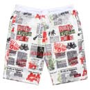 NEW PAPER SWEAT SHORTS (WHITE)