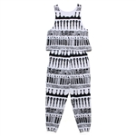 SYMBOL CRAYON ROMPERS (WHITE)