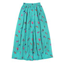 MEXICAN BIRD LONG SKIRT (EMERALD)
