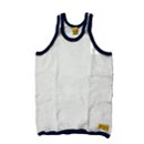 ONE RINGER MESH VEST(White/Navy)