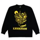 LEGENDS RAGLAN SWEAT (BLACK)