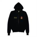 WAR HOODED ZIP CARDIGAN (BLACK)