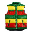 SYNTIC LATHER DOWN VEST (RASTA)