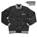 MAJESTIC x SP1 VARSITY JACKET (BLACK)
