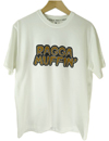 RAGGA MUFFIN ID TEE MASH UP (WHITE×BROWN)